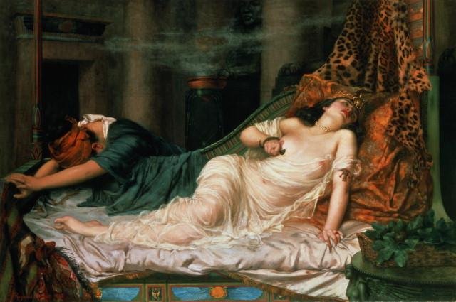 В 30 году Антоний и Клеопатра